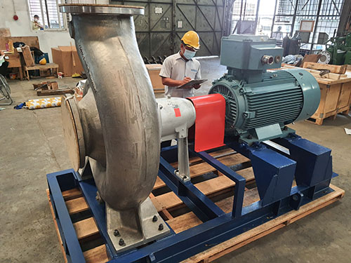 Duplex stainless steel KSB CPKN pump has been shipped out for our customer